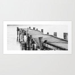 Broken Bridge Art Print
