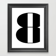 Typography Poster, black and white print, eight art print Framed Art Print
