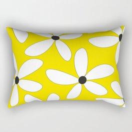 Happy flowers Yellow Rectangular Pillow