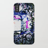 bathroom iPhone & iPod Cases featuring Bathroom Graffiti by Bendey