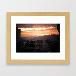 Nha Trang Sky Framed Art Print