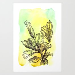 Plant Series: Green Art Print