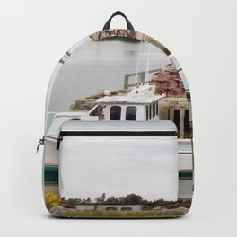 Lobster Boat and Traps Backpack