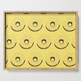 Yellow donuts Serving Tray