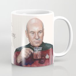 Tea. Earl Grey. Hot. Captain Picard Star Trek | Watercolor Coffee Mug