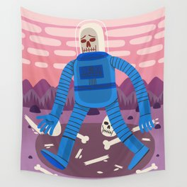 Sad Spaceman Wall Tapestry
