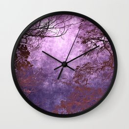 Purple Landscape Wall Clock