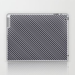 Lilac Gray and Black Stripe Laptop & iPad Skin