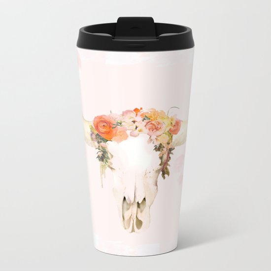 Romantic Boho Buffalo Metal Travel Mug