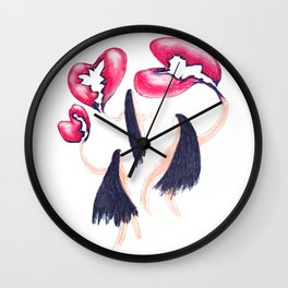 Three hearts Wall Clock