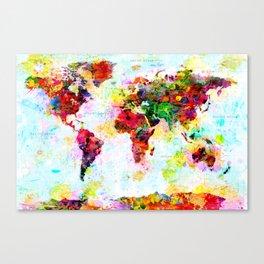World Map - 4 Canvas Print