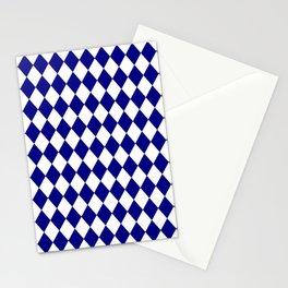Diamonds (Navy Blue/White) Stationery Cards