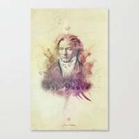 beethoven Canvas Prints featuring Beethoven by Rafal Rola