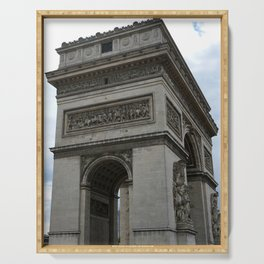 Arc de Triomphe and Eiffel Tower Serving Tray