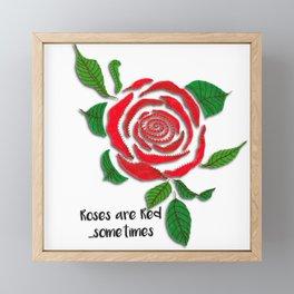 Roses are Red...Sometimes Framed Mini Art Print