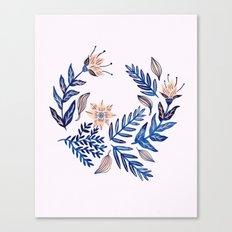 Blue Wreath Canvas Print