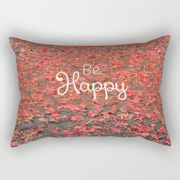 Just Be Happy Rectangular Pillow