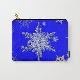 """MORE BLUE SNOW"" BLUE WINTER ART DESIGN Carry-All Pouch"