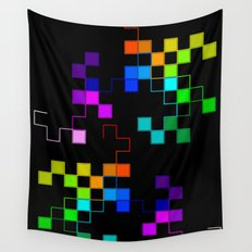 squares and squares again Wall Tapestry