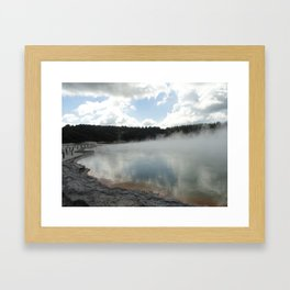 champagne pool. Framed Art Print
