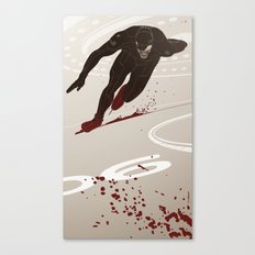 Bloody Skating - The Runner Up Canvas Print
