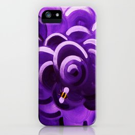 Honey Bees in Lavender iPhone Case