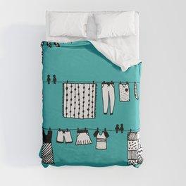 Laundry Doodle Duvet Cover