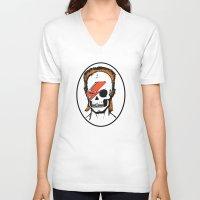 aladdin V-neck T-shirts featuring Aladdin Sane by zombieCraig by zombieCraig