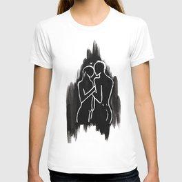 DUALITY - WHITE ON BLACK T-shirt