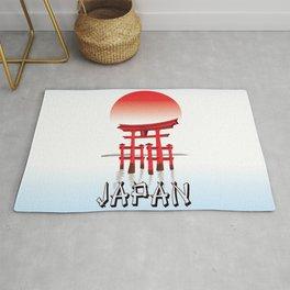 Japan, Torii Gate in Sunset Poster Rug