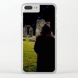 Druid Princess of Stonehenge Clear iPhone Case