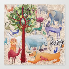 Animal forest Canvas Print