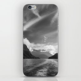 Dramatic clouds and alpine scenery at Lake Manapouri iPhone Skin