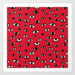 Shifty Eyes Art Print