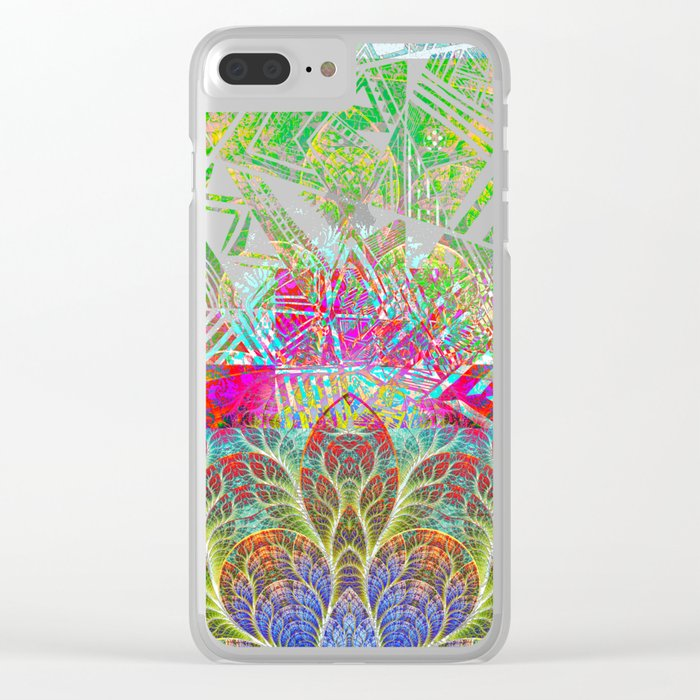 Abstract 1 Clear iPhone Case