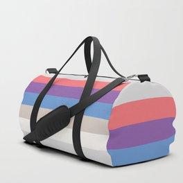 Retro VHS Tape Stripes Duffle Bag