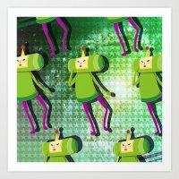 katamari Art Prints featuring Katamari Cousins - Prince by cakeisforrobots