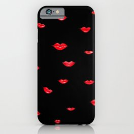 Red Lips II iPhone Case