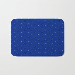 Succ It - Cute But Rude Cactus Tiled on Dark Blue Bath Mat