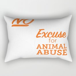 ASPCA No Excuse for Animal Abuse T-Shirt Dark Rectangular Pillow
