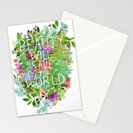 Beauty Will Save the World Stationery Cards