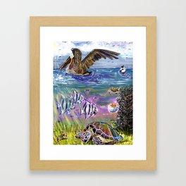 Traffic on the Chesapeake Bay Framed Art Print