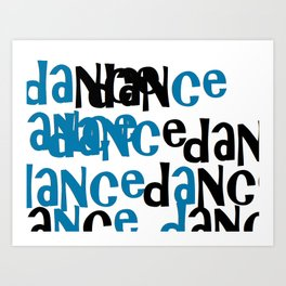 dance in blue Art Print