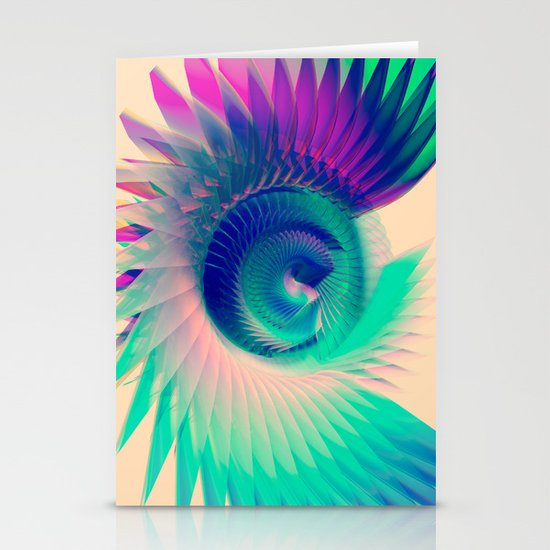 Abstract Wing Stationery Cards