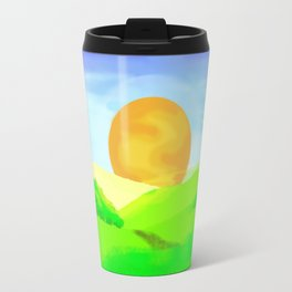 landscape sunrise Travel Mug