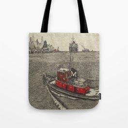 Morgan Tugboat, Hudson river, New York Tote Bag