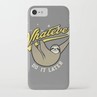 whatever iPhone & iPod Cases featuring Whatever by Mathiole