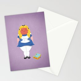 Alice in worriedland Stationery Cards