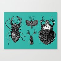insects Canvas Prints featuring Insects by Ejaculesc