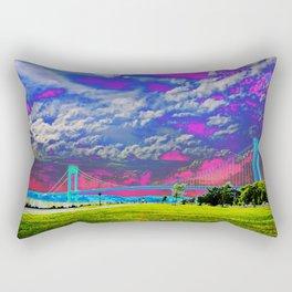 Verrazano Bridge  Rectangular Pillow